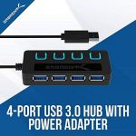 Sabrent 4-Port USB 3.0 Hub avec des commutateurs et des voyants d'alimentation individuels (HB-UM43) de la marque Sabrent image 1 produit