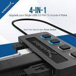 Sabrent 4-Port USB 3.0 Hub avec des commutateurs et des voyants d'alimentation individuels (HB-UM43) de la marque Sabrent image 2 produit