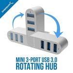 Sabrent HB-R3MC Mini hub 3Ports USB 3.0 inclinable de la marque Sabrent image 2 produit