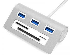 Sabrent - Multiprise pour ordinateur avec ports USB 3.0 et plusieurs lecteurs de cartes mémoire - En aluminium - Avec câble de 30,5 cm - Pour Mac et iMac, MacBook, MacBook Pro, MacBook Air, Mac Mini, et tous les PC - HB-MACR de la marque Sabrent image 0 produit
