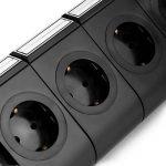 SAFEMORE Tour Multiprise avec 11 Prises de Recharge et 2 Ports USB (5V 2,1A), Interrupteur d'Alimentation Adaptateur Douille, Porte Sécuritaire, 2500W/10A - Noir + Noir de la marque SAFEMORE image 2 produit