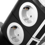 SAFEMORE Tour Multiprise avec 7 Prises de Recharge et 2 Ports USB (5V 2,4A), Interrupteur d'Alimentation Adaptateur Douille, Porte Sécuritaire, 2500W/10A de la marque SAFEMORE image 2 produit