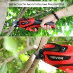 Sécateur professionnel à batterie électrique sans fil avec lames massives pour arbres, jardin, vigne et fruits (1Blade, 1 ciseaux de taille manuelle en cadeau) de la marque HYDLJN image 2 produit