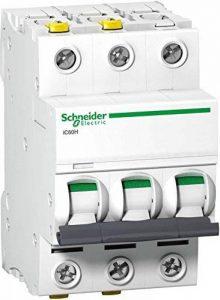 Schneider A9F08301 Disjoncteur iC60H 3P 1A D Charicature de la marque Schneider image 0 produit