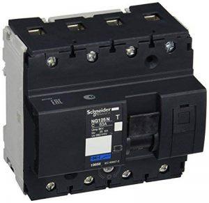 Schneider Electric 18656 Disjoncteur Modulaire Multi 9, NG125N, 4 Pôles, Courbe C, 103 mm Hauteur, 108 mm Largeur, 81 mm Profondeur, 63 A, 690V de la marque Schneider Electric image 0 produit