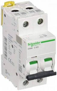 Schneider electric a9F74232iC60N disjoncteur, acti9, 2p, 32A, Courbure C, 50/60Hz, Blanc de la marque Schneider Electric image 0 produit