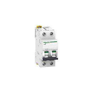 Schneider Electric A9F75216 IC60N Disjoncteur électrique Acti9 Courbe D, 2P 85x 36x 78,5mm, 16A, 50/60Hz, blanc de la marque Schneider Electric image 0 produit