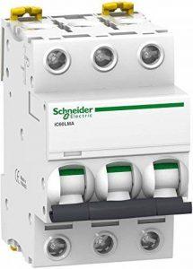 Schneider Electric A9F90340 IC60L Disjoncteur À Déclenchement Instantané, Acti 9, Courbe MA, 3P, 85 mm Hauteur x 54 mm Largeur x 78.5 mm Profondeur, 40 A Courant, 50/60 Hz, Blanc de la marque Schneider Electric image 0 produit