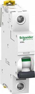 Schneider Electric A9F92101 IC60L Disjoncteur, Acti 9, Courbe Z, 1P, 85 mm Hauteur x 18 mm Largeur x 78.5 mm Profondeur, 1 A Courant, 50/60 Hz, Blanc de la marque Schneider Electric image 0 produit