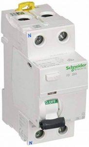 Schneider Electric A9r31225Iid Interrupteur différentiel, classe SI, Instant, 30mA sensibilité, 2P, 91mm de hauteur x 36mm de largeur x profondeur 73.5mm, 25au courant, Blanc de la marque Schneider Electric image 0 produit