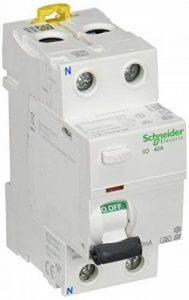 Schneider electric a9r31240IID Interrupteur différentiel 30mA instantané, classe Si de sensibilisation, 2p, 91mm hauteur x 36mm largeur x 73.5mm profondeur, 40A courant, blanc de la marque Schneider Electric image 0 produit