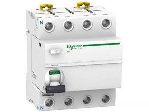 Schneider Electric A9r34463Iid Interrupteur différentiel, Blanc, classe SI, Instant, 300mA sensibilité, 4P, 91mm de hauteur x 72mm de largeur x 73.5mm Profondeur, 63A courant, Blanc de la marque Schneider Electric image 0 produit