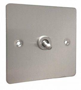 Schneider - Interrupteur va et vient simple avec plaque de finition ultra fine en acier inoxydable de la marque ETG image 0 produit