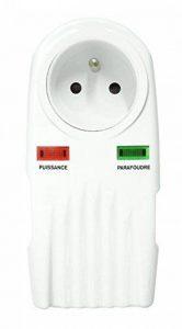 Security Pro - Parafoudre 1 Prise Protection Téléphone + TV F/F 9,52mm (+ 2 Raccords SAT M/F) de la marque Security Pro image 0 produit