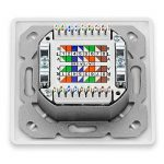 Set de deleyCON 10x prises réseau universelles Cat. 6 - 2x ports RJ45 - protégés- Apparent/encastré - Réseau ethernet 10 Gigabits - norme TIA/EIA-568A&B - blanc/blanc uni de la marque deleyCON image 3 produit