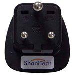 ShaniTech Lot de 2 Adaptateurs de voyage Type D à 3broches Adaptateur pour Inde, Népal, Bhoutan, Sri Lanka, Pakistan 1 pièce Noir de la marque ShaniTech image 2 produit
