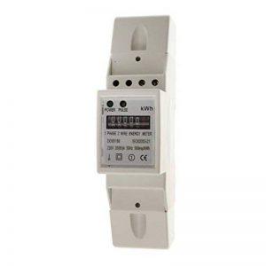 Sharplace Compteur Électrique Numérique Wattmètre Puissance D'énergie DIN-Rail Meter - #15 (1 Phase 2 Wire 20(80) A 140cm) de la marque Sharplace image 0 produit