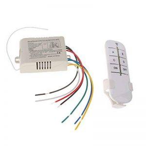 Sharplace ON/OFF 4-canaux Interrupteur Lumière Sans Fil Numérique + Télécommande 220V-240V de la marque Sharplace image 0 produit