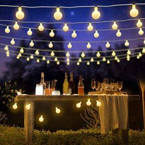 ShinePick Guirlande Lumineuse 60 Boule LED, 9.5M Fil Souple Imperméable 8 Modes Eclairage Lampes pour Maison, Jardin, Festival Décoration Prise EU (Blanc Chaud) de la marque ShinePick image 0 produit