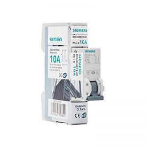 Siemens - Disjoncteur électrique phase + neutre 10A de la marque Siemens image 0 produit