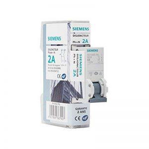 Siemens - Disjoncteur électrique phase + neutre 2A de la marque Siemens image 0 produit