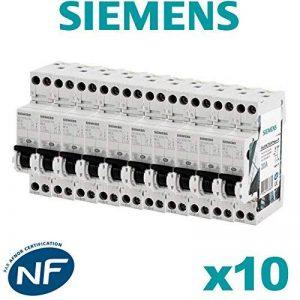 Siemens - Lot de 10 Disjoncteurs électriques phase + neutre 20A de la marque Siemens image 0 produit