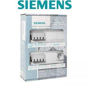 Siemens - Tableau électrique pré-équipé 2 rangées 26 modules 8 disjoncteurs 2 interrupteurs différentiels + prise 2P+T de la marque Siemens image 0 produit