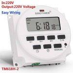 SINOTIME TM618H-2 220V AC Tension de sortie de commutateur de temps numérique 220V 7 jours hebdomadaire minuterie programmable pour les lumières Application de la marque SINOTIME image 2 produit