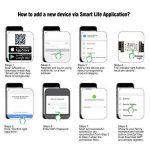 Smart Wifi Commutateurs Télécommande Sans Fil Télécommande eMylo Module de Commutateur de Lumière Smart Home Automation Minuterie de Sortie Compatible avec Alexa, Google Home Via iphone Android 1 Pack de la marque Yasorn image 2 produit