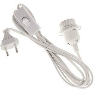 Smartfox Câble d'alimentation avec interrupteur et douille de lampe E27incl. Bague à Visser Blanc 3,4m de la marque Smartfox image 0 produit