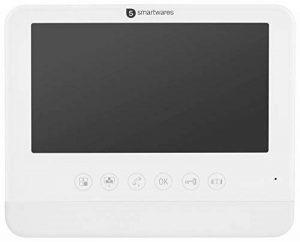 Smartwares DIC-22202 Interphone Vidéo à Moniteur Intérieur HD 720p Écran LCD, Blanc, 7 Pouces/17,8 cm de la marque Smartwares image 0 produit