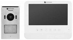 Smartwares DIC-22212 (VD71 VD71W VD71Z) Système d'Interphone Vidéo HD 720p Écran LCD Caméra Panoramique/Inclinaison Fonction d'Enregistrement Automatique Vision Nocturne, Blanc, 7 Pouces/17,8 cm de la marque Smartwares image 0 produit