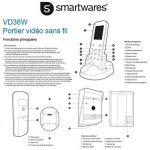 Smartwares VD36W Portier Vidéo sans fil Blanc de la marque Smartwares image 4 produit