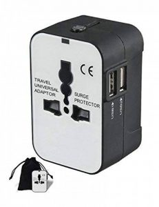 SMING Adaptateur Secteur de Voyage Universel avec 2 Ports de Charge USB pour Europe/États-Unis/Royaume-Uni/Australie de la marque SMING image 0 produit