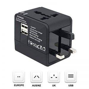 SODIAL Adaptateur Voyage, dans le monde entier tout en un Voyage Socket Universal Plug Converter USB deux ports de charge AC Power Plug Chargeur pour les telephones cellulaires USA, UK, EU AUS de la marque SODIAL image 0 produit