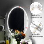 SOLMORE Ruban LED 4M Luminosité Adjustable 240SMD Lampe pour Miroir Peut Être Coupé Bande pour Maquillage Coiffeuse Éclairage Armoire Placard Adhésif 6500K Blanc Lumière 9.6W + Alimentation DC 12V 2A de la marque SOLMORE image 2 produit