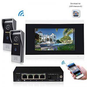 Sonnette d'interphone vidéo WiFi IP vidéo, moniteurs Couleur 7 Pouces visiophone HD monté en Surface, contrôle de Deux verrous système d'interphone de Version Nuit de la marque Jeatone image 0 produit