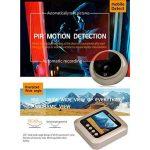 Sonnette numérique connectée avec visiophone LCD, avec caméra à détecteur de mouvement IRP, vision nocturne, grand angle de 160 °, et écran couleur 1080P 2,4 de la marque Comaie image 4 produit