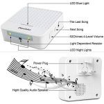 Sonnette sans fil, Dasinko Kit de carillon de porte sans fil à fixation murale étanche avec lumière de capteur de lumière de nuit, 1 bouton-poussoir et 2 récepteurs enfichables à CA avec flash LED 52 mélodies à choisir, piles incluses de la marque DASINKO image 3 produit