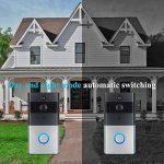 Sonnette Sans Fil Wifi Étanche, Ring Video Doorbell avec Pile Télécommande, Récepteurs Enfichables DingDong PIR Infrarouge, 720P HD, Audio Bidirectionnel, Consommation Faible, Carte 8G Intégré (32G Maximum) de la marque INDARUN image 4 produit