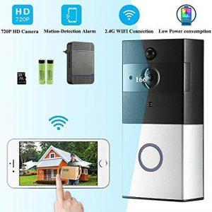 Sonnette Sans Fil Wifi Étanche, Ring Video Doorbell avec Pile Télécommande, Récepteurs Enfichables DingDong PIR Infrarouge, 720P HD, Audio Bidirectionnel, Consommation Faible, Carte 8G Intégré (32G Maximum) de la marque INDARUN image 0 produit
