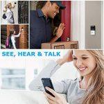 Sonnette Vidéo sans Fil avec Caméra HD, Objectif Grand Angle, Intercom Audio Bidirectionnel, Carte TF 8 Go, Vision Nocturne IR, Détection de Mouvement PIR, Télécommande Intelligente APP pour iOS et Android via WiFi 2,4 G de la marque Arkmiido image 2 produit