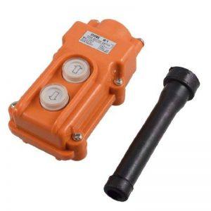 sourcingmap® 250V 5A 500V 2A 2 Façons Grue de Levage Bouton de Commande interrupteur Orange de la marque Sourcingmap image 0 produit