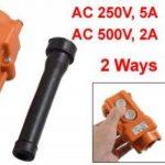 sourcingmap® 250V 5A 500V 2A 2 Façons Grue de Levage Bouton de Commande interrupteur Orange de la marque Sourcingmap image 1 produit