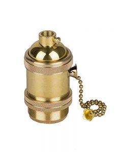 Splink Vintage Support pour Ampoule E27 Douille Culot de Lampe Avec Interrupteur de Chaîne en Cuivre Laiton Couleur Cuivre … de la marque Splink image 0 produit