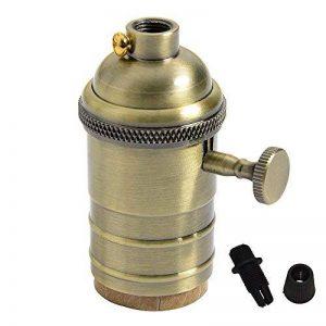 Splink Vintage Support pour Ampoule E27 Douille Culot de Lampe Avec Interrupteur en Cuivre Laiton Couleur Bronze de la marque Splink image 0 produit