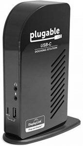 Station d'accueil Plugable USB-C à Triple Affichage avec Prise en Charge de Chargement/Distribution électrique pour Les systèmes spécifiques Windows USB Type-C et Thunderbolt 3 de la marque Plugable image 0 produit