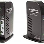 Station d'accueil Plugable USB-C à Triple Affichage avec Prise en Charge de Chargement/Distribution électrique pour Les systèmes spécifiques Windows USB Type-C et Thunderbolt 3 de la marque Plugable image 1 produit