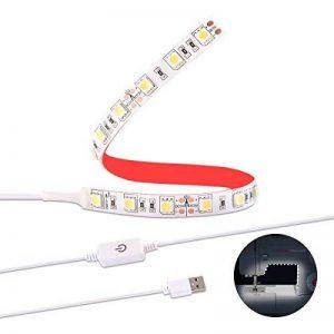 Sunix Lumière LED de Machine à Coudre, Kit Bande d'Éclairage avec Gradateur Tactile et Alimentation USB, Blanc Naturel avec Ruban Adhésif Flexible 3M, s'adapte à toutes les Machines à Coudre(sans chargeur) de la marque Sunix image 0 produit