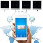 SUNSETGLOW Smart Wifi Interrupteurs 4 Gang, Amazon Echo Et Google Home Pris En Charge, Interrupteur Mural Moderne À Écran Tactile, Télécommande, Fonction Timing, Contrôle Smartphone de la marque SUNSETGLOW image 3 produit